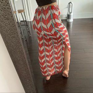 PacSun Kiera Patterned Maxi Skirt